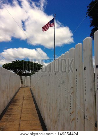 Iconic monuments from World War II, Pearl Harbour, Hawaii