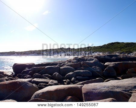 Boulders at the sea, Esperance, Western Australia