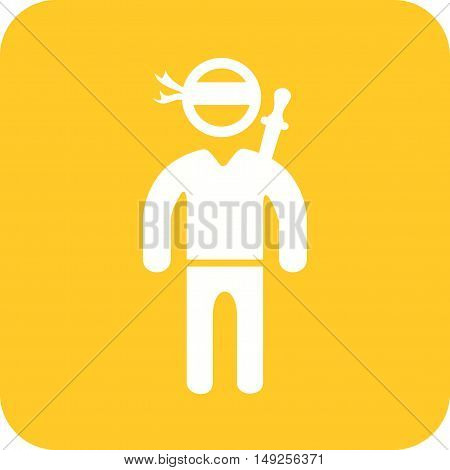 Ninja, warrior, martial icon vector image. Can also be used for people. Suitable for use on web apps, mobile apps and print media.