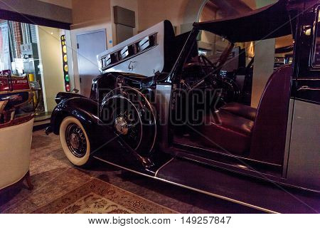 El Segundo, CA, USA - September 26, 2016: 1937 Pierce Arrow Town Car displayed at the Automobile Driving Museum in El Segundo, California, United States. Editorial use only.