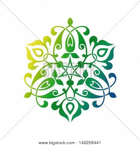 Arabic oriental ornament floral pattern motif arabesque arabic ornament