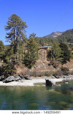 River In Himalaya Mountain