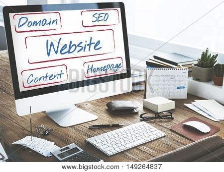 Website Template Content Homepage Domain SEO Words Concept