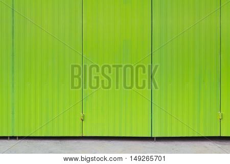 Metal Sheet With Green Color Painted, Background