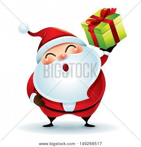 Santa Claus giving christmas present