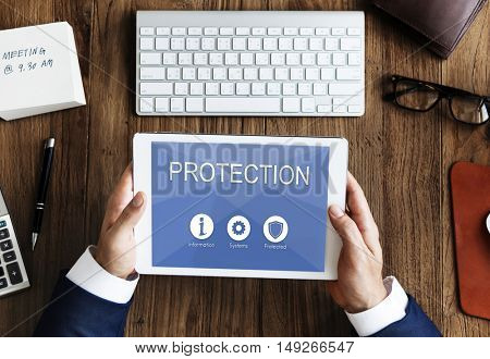 Privacy Security Data Protection Shield Graphic Concept