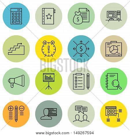 Set Of Project Management Icons On Money Revenue, Graph, Planning And More. Premium Quality Eps10 Ve