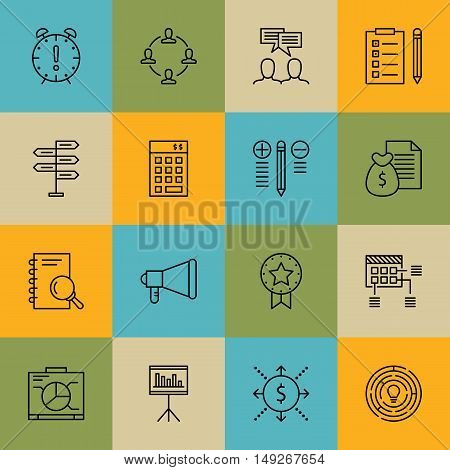Set Of Project Management Icons On Research, Award, Task List And More. Premium Quality Eps10 Vector