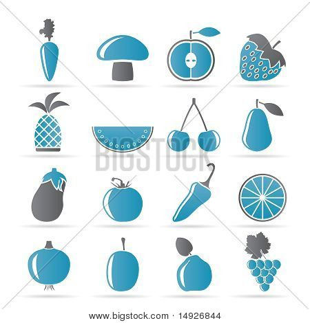 Different kinds of fruits and Vegetable icons