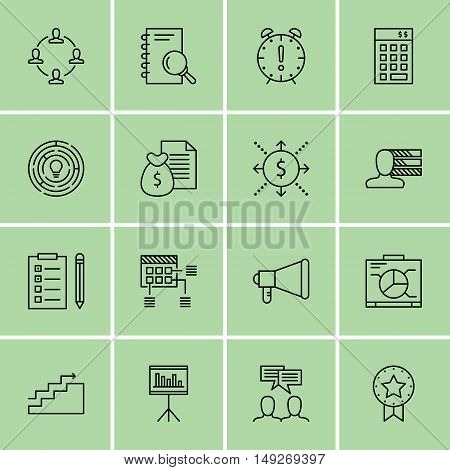 Set Of Project Management Icons On Charts, Task List, Promotion And More. Premium Quality Eps10 Vect