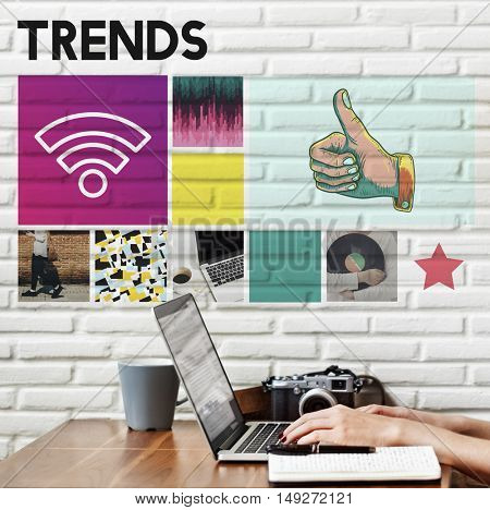Trends Design Fashion Marketing Modern Style Concept