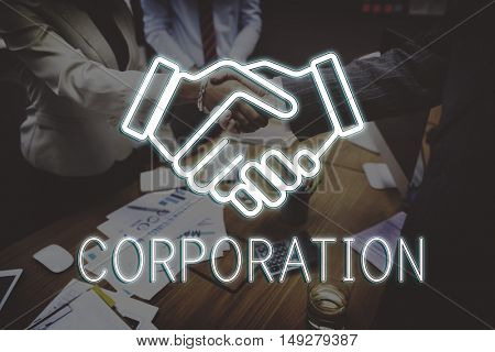 Handshake Deal Agreement Corporate Business Concept