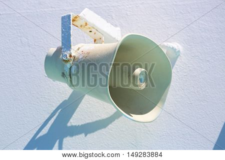 Speaker On The Ship On White Background
