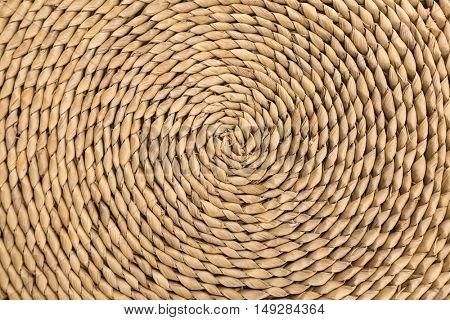 Spiral pattern of a wicker