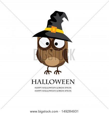 Halloween Owl, vector illurtation for greeting cards and invitation