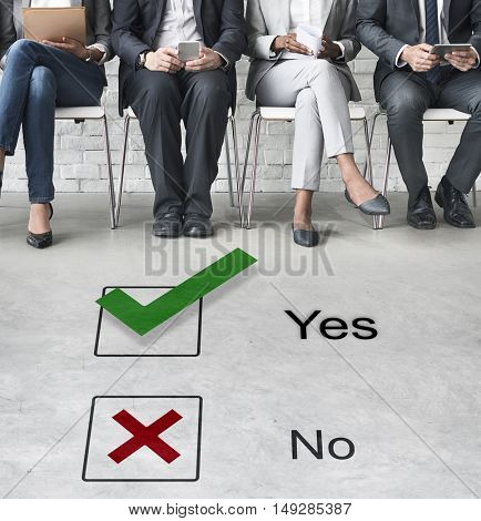 Choices Tick Yes No Choose Mark Decision Graphic Concept