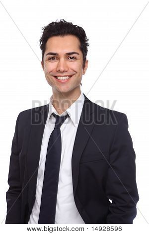 Portrait Of A Young Businessman Smiling