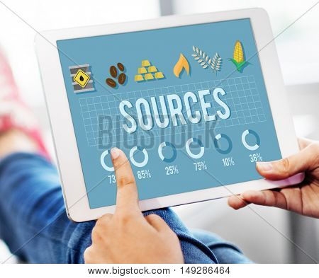 Sources Career Circumstance Management People Concept