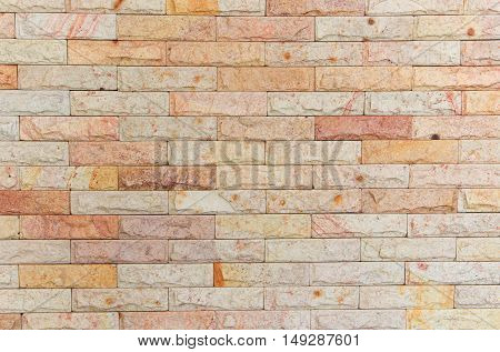 Sandstone brick wall texture, Stone background pattern and color
