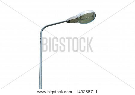 A street lamp isolated on white background.