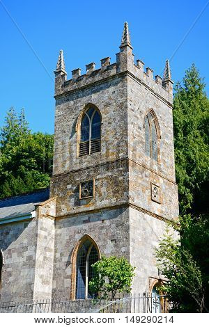 St James church tower Milton Abbas Dorset England UK Western Europe.
