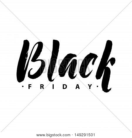 Black Friday Sale. Promo Abstract Calligraphic Vector Illustration for your business artwork. Black Friday Sale handmade lettering, calligraphy with light background for logo, banners, labels