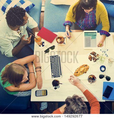 Brainstorming Connection Colleagues Team Concept
