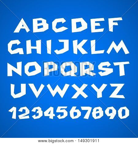 Vector Alphabet. Exclusive Custom Letters font. Typography for Designs: Logo for Poster Invitation Card etc. Stock vector illustration.