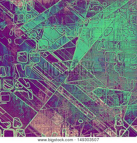 Geometric retro colorful background or creative old style texture with different color patterns: green; blue; purple (violet); pink; cyan