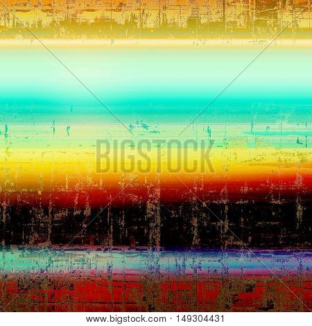 Abstract faded retro background or shabby texture with vintage style design and different color patterns: yellow (beige); brown; blue; red (orange); black; cyan
