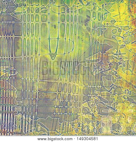 Grunge scratched background, abstract vintage style texture with different color patterns: yellow (beige); brown; gray; green