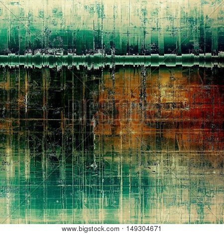 Grunge background for your design, aged shabby texture with different color patterns: yellow (beige); brown; green; blue; red (orange); black