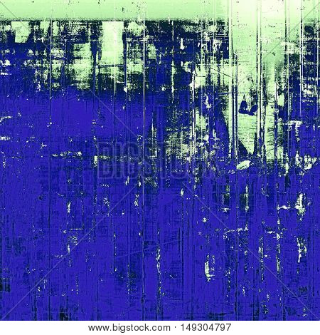 Abstract grunge background or damaged vintage texture. With different color patterns: green; blue; black