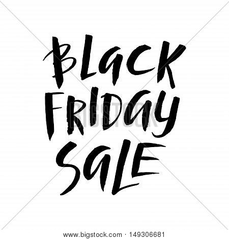 Black Friday Sale. Promo Abstract Calligraphic Vector Illustration for your business artwork. Black and White Template.
