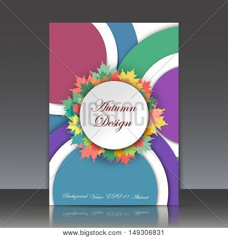 Abstract Composition, Leaves Theme, Autumn Event Advertisement Card, Seasonal Sale Flyer, Biological