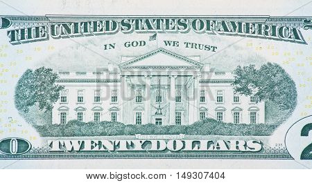 The White House on back of twenty dollar note