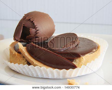 Dark chocolate ganache tart luxurious dessert treat