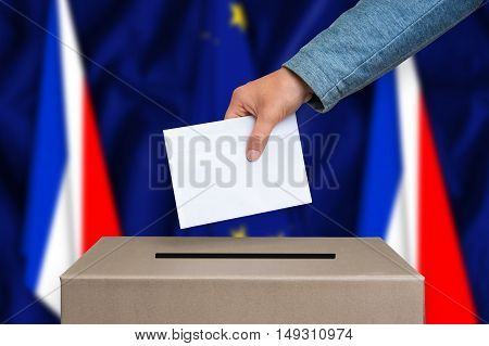 Referendum In France - Voting At The Ballot Box