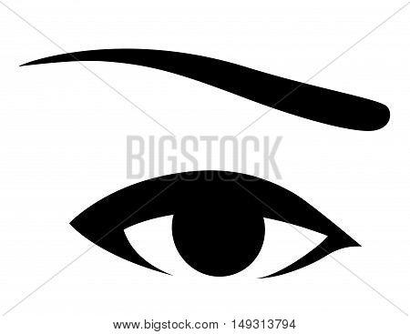 Black Human Eye