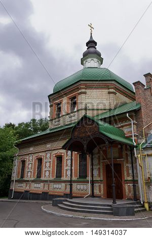old Orthodox church St. Seraphim of Sarov in Kiev Ukraine