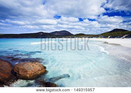 Crystal clear water of Hellfire Bay, Esperance, Western Australia, Australia - Tourism
