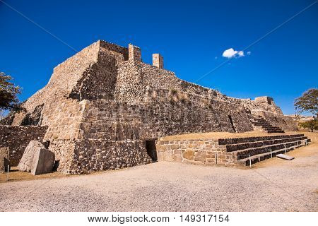 Ancient ruins Monte Alban  - the ruins of the Zapotec civilization in Oaxaca, Mexico
