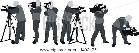 Cameramans Silhouettes