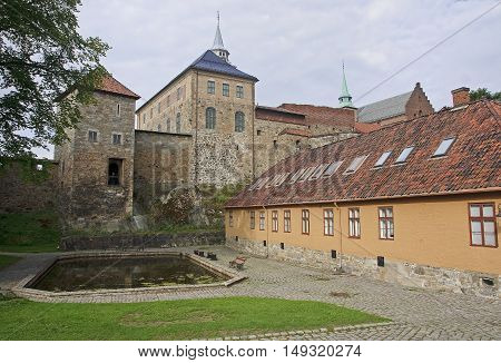 Akershus Fortress in center of Oslo (Norway.)