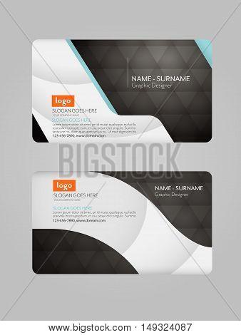 Modern business card template. Clean business card.