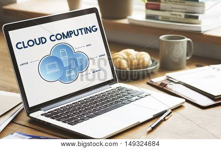 Cloud Computing Data Networking Connection Technology Concept