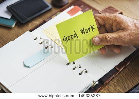 Good Work Best Excellent Success Expertise Concept