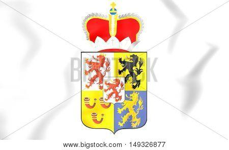 Limburg Coat Of Arms, Netherlands. 3D Illustration.