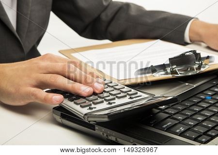 Man running by typing on the keyboard