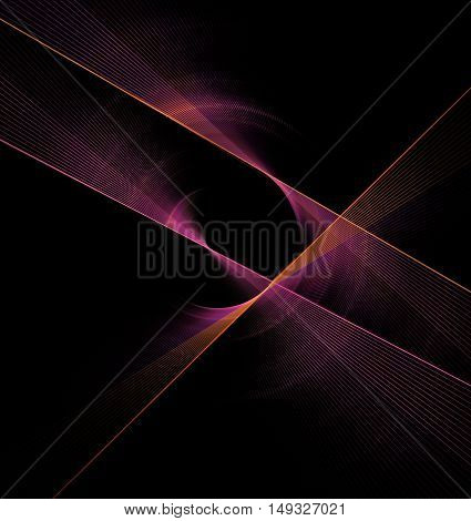 Abstract fractal rotation shape computer generated image